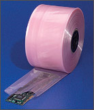 "24"" x 750' 4 Mil Amine-Free Pink Anti-Static Poly Tubing"