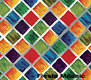 "6 1/2"" x 7 3/4"" Fiesta Mosaic Gift Wrapping Sleeves 24/Pack"