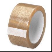 "Tan 1.7 mil 2"" x 55 yds Natural Rubber Tape 36 Rolls/Carton"