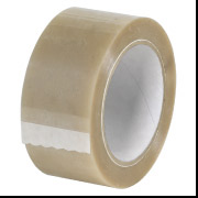 "2.9 mil 2"" x 55 yds Natural Rubber Tape w/ Polyester 36 Rolls/Carton"