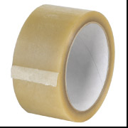 "White 2.2 mil 2"" x 110 yds Natural Rubber Tape w/ PVC 36 Rolls/Carton"