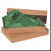 15 x 9 1/2 x 2 Kraft Apparel Box 100/Case