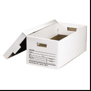 Deluxe Letter File Storage Box w/Lid 12/Cs