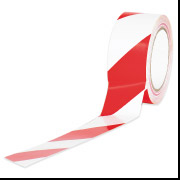 "3"" x 36"" Red/White Striped Tape 7-Mil"