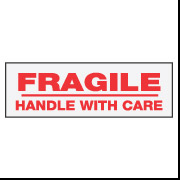 "2"" x 110 ""Fragile Handle With Care"""