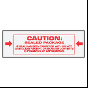 "2"" x 110 ""Caution: Sealed Package"""
