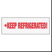 "2"" x 110 ""Keep Refrigerated"""