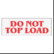 "2"" x 110 ""Do Not Top Load"""