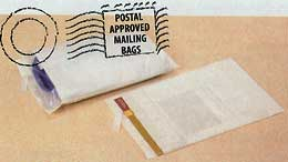 "2 Mil. White Opaque Poly Mailing Bags (Size: 9"" x 12"")"