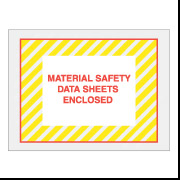 "4 1/2"" x 6"" Yellow Stripes ""MSDS"" Envelopes 1000/Case"