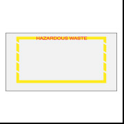 "5 1/2"" x 10"" ""Hazardous Waste"" Yellow Border Envelope 1000/Case"
