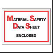 "6 1/2 x 5 ""MSDS Enclosed"" Envelope 1000/Case"
