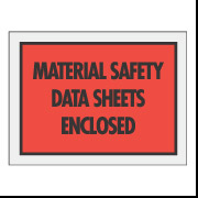 "6 1/2 x 5 Red ""MSDS Enclosed"" Envelope 1000/Case"