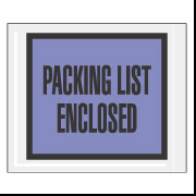 "7"" x 5.5"" Blue Full Face ""Packing List Enclosed"" Envelopes 1000/Case"