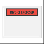"4 1/2"" x 6"" Red ""Invoice Enclosed"" Envelopes 1000/Case"