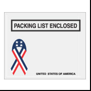 "4 1/2"" x 5 1/2"" Ribbon ""Packing List Enclosed"" Envelope 1000/Case"