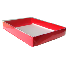 "4 Bar/A1 Christmas Red  Greeting Card Boxes (5 1/4"" x 3 3/4"" x 1"")"