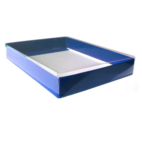 "4 Bar/A1 Blue Greeting Card Boxes (5 1/4"" x 3 3/4"" x 1"")"