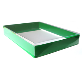 "A8 Green Stationery Boxes (8 5/8 X 5 5/8 X 1"")"