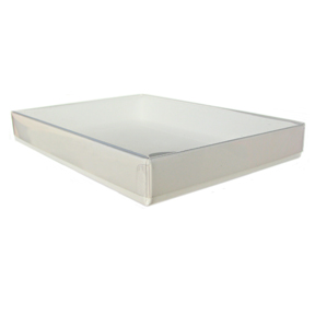 "A2/5.5 Bar White Stationery Boxes (5 7/8 x 4 1/2 x 3/4"")"