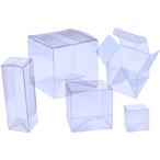 "4"" x 4"" x 8"" Soft Fold Clear Boxes"