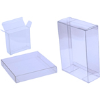 "4 1/2"" x 1/4"" x 5 7/8"" Soft Fold Clear Boxes (25 Pieces)"