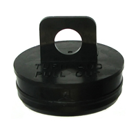"1 1/2"" Black Hanging Tube Cap"