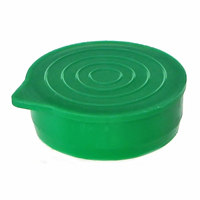 "1 1/4"" Green Packaging Tube Caps"