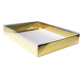 "4 Bar/A1 Gold Foil Greeting Card Boxes (5 1/4"" x 3 3/4"" x 1"") 25/Ctn"