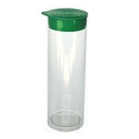 1 3/4 x 24 Round Clear Plastic Tubes 1.752 RD 1000/ctn