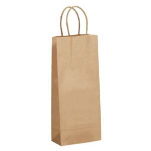 5 1/2 x 3 1/4 x 13 Kraft Shopping Bag 250/Case
