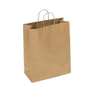 13 x 6 x 16 Kraft Shopping Bag 250/Case