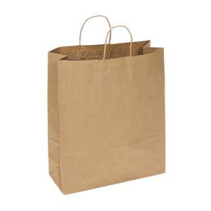 16 x 6 x 19 Kraft Shopping Bag