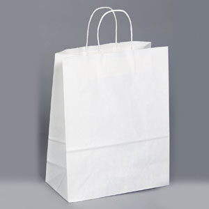 13 x 6 x 16 White Shopping Bag