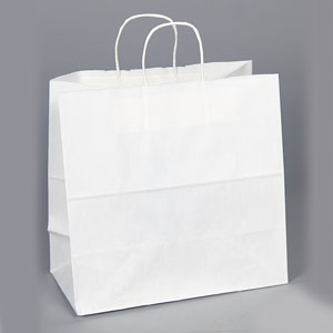 13 x 7 x 13 White Shopping Bag
