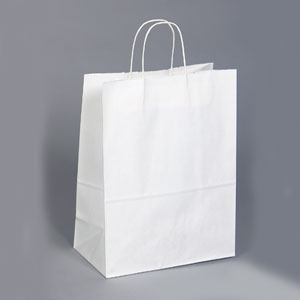 13 x 7 x 17 White Shopping Bag