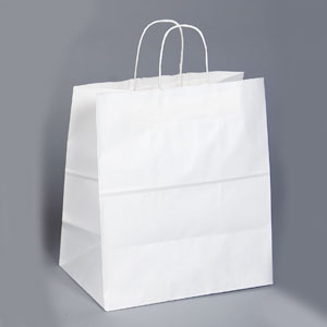 14.5 x 9 x 16.25 White Shopping Bag