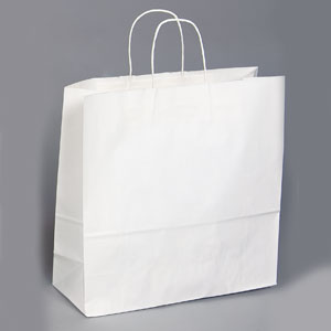 16 x 6 x 16 White Shopping Bag