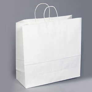 18 x 7 x 18 White Shopping Bag