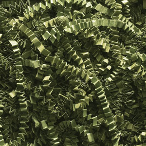 Olive Green Crinkle Cut Paper Shred 10 lbs/Case