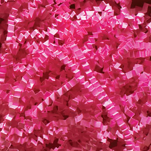 Fuchsia Crinkle Cut Paper Shred 10 lbs/Case