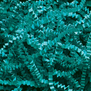 Teal Crinkle Cut Paper Shred 10 lbs/Case