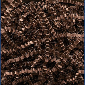 Chocolate Crinkle Cut Paper Shred 10 lbs/Case