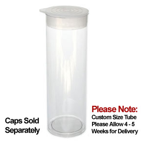 1 1/4 x 5 Round Clear Plastic Tubes 1.288 RD