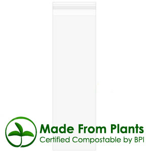 "2 3/4"" x 8 1/2"" flap, Premium Eco Clear Bags 1.6 Mil (100 pack)"