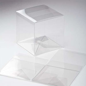 "5"" x 5"" x 5"" Crystal Clear Cube Boxes (25 Pieces)"