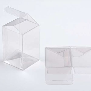 "5"" x 5"" x 10"" Crystal Clear Cube Boxes (25 Pieces)"