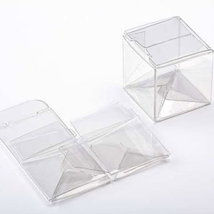 "1 1/2"" x 1 1/2"" x 1 1/2"" Crystal Clear Cube Boxes (25 Pieces)"