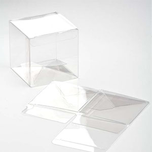 "3"" x 3"" x 3"" Crystal Clear Cube Boxes (25 Pieces)"