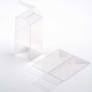 "3"" x 3"" x 6"" Crystal Clear Cube Boxes (25 Pieces)"